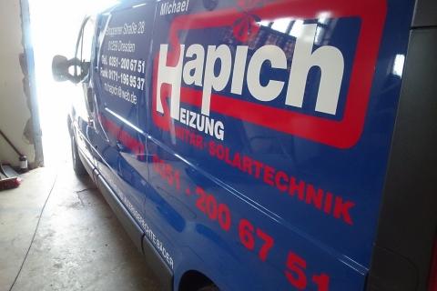 Fa. Hapich Dresden - Beschriftung von Firmenwagen
